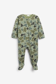 Camouflage Bear Fleece Lined Sleepsuit (0mths-3yrs)