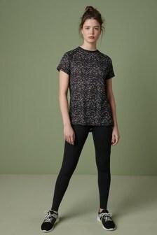 Ditsy Print Short Sleeve Sports T-Shirt