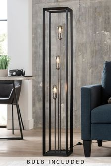 Black Brooklyn 3 Light Floor Lamp