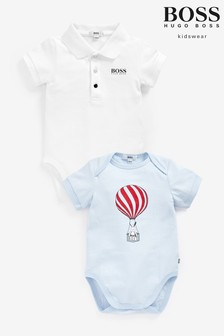 BOSS Blue Balloon Babygrows Two Pack