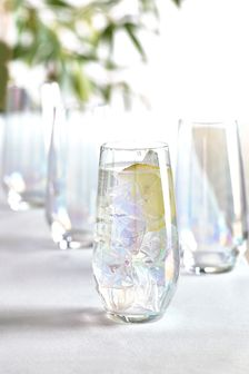 Paris Lustre Effect Set of 4 Tall Tumbler Glasses