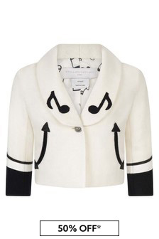 Kids Ivory Music Notes Jacket
