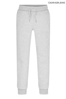 Calvin Klein Jeans Grey Monogram Reflective Sweat Pants
