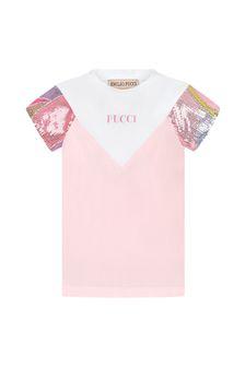 Emilio Pucci Girls Pink Cotton T-Shirt