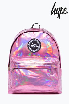 Hype. Pink Holographic Backpack
