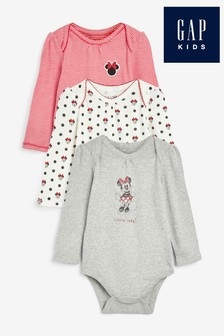 Gap Disney™ Minnie Mouse™ Bodysuits Three Pack