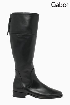 Gabor Keates Black Leather Knee Length Fashion Boots