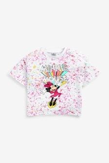 Multi Bright Splats Minnie Mouse T-Shirt (3-16yrs)