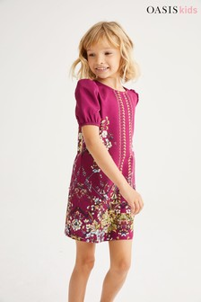 Oasis Floral Border Print Dress