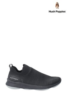 Hush Puppies Black Free BounceMAX Slip-On Trainers