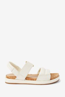 White/Gold Forever Comfort® With Motion Flex Slingback Sandals