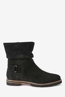 Black Regular/Wide Fit Forever Comfort® Slouch Weekender Boots