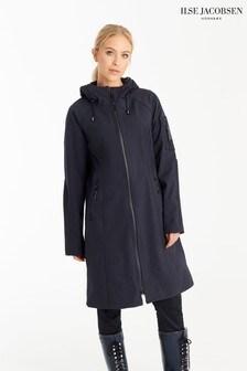 Ilse Jacobsen Hornbk Blue Long Raincoat