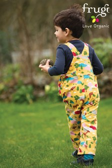 Frugi GOTS Organic Reversible Chambray And Farm Dungarees