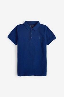 Cobalt Textured Poloshirt (3-16yrs)