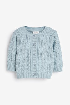 Blue Cable Knit Cardigan (0mths-3yrs)