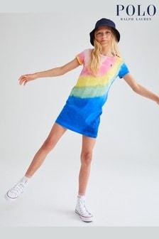 Ralph Lauren Tie Dye Logo T-Shirt Dress