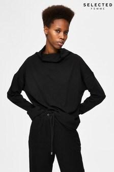 Selected Femme Sustainable Black Adora Sweatshirt
