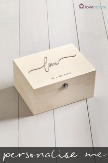 Personalised Love Memory Box by Loveabode