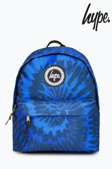 Hype. Blue Tie Dye Backpack