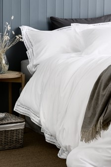Ladder Lace Duvet Cover And Pillowcase Set