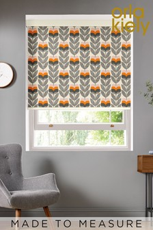 Rosebud Orange Made To Measure Roller Blind by Orla Kiely