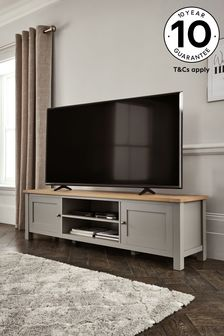 Dove Grey Malvern Super Wide TV Stand