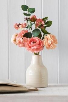 Artificial Coral Floral In Vase