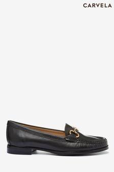 Carvela Comfort Black Click Leather Loafers