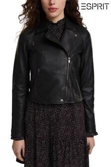 Esprit Black Women's Leather Jacket