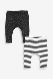 Monochrome 2 Pack Stretch Leggings (0mths-2yrs)