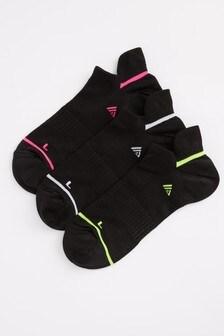 Black Ultimate Sports Trainer Socks 3 Pack