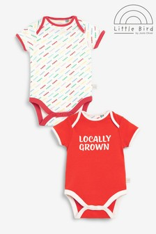 Little Bird Organic Cotton 2 Pack Short Sleeve Bodysuits
