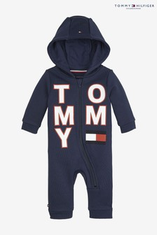 Tommy Hilfiger Baby Large Branded Zip Hooded Coverall