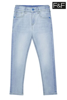 F&F Blue Skinny Fit Light Jeans