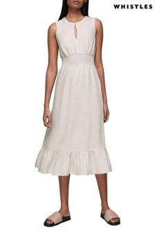 Whistles Matila Linen Dress