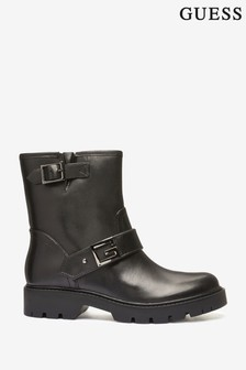 Guess Black Ragner Leather Boots