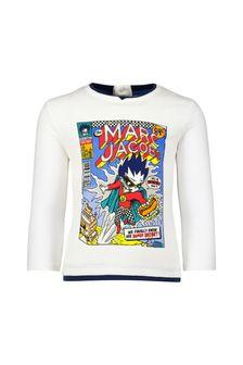 Baby Boys Ivory Cotton Comic Book T-Shirt