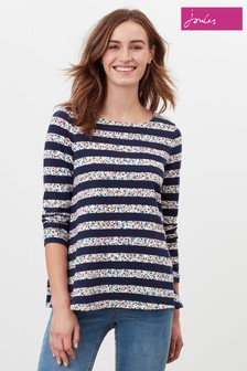 Joules Blue Harbour Swing Long Sleeve Jersey Top