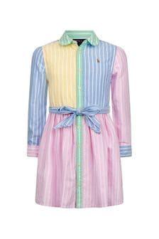 فستان بناتي قطن ألوان متعددة