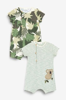 Camouflage 2 Pack Rompers (0mths-2yrs)