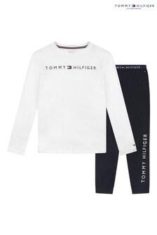 Tommy Hilfiger Blue Logo Pyjama Set