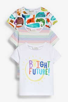 Bright 3 Pack Character Stretch T-Shirts (0mths-2yrs)