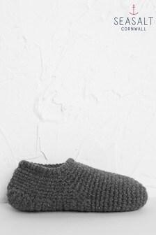 Seasalt Grey Quiet Room Slipper Socks