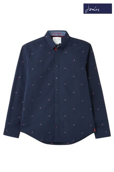 Joules Blue Ballintoy Classic Fit Dobby Shirt