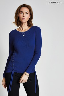 Harpenne Blue Eyelet Detail Jumper