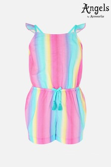 Accessorize Pink Rainbow Playsuit