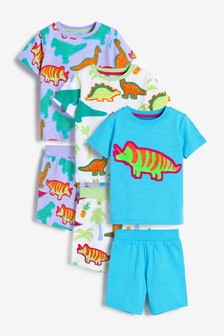 Bright Dinosaur 3 Pack Short Pyjamas (9mths-12yrs)