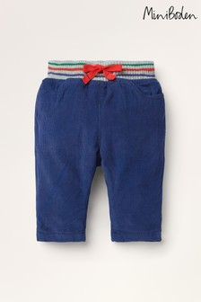 Boden Blue Rib Waist Trousers