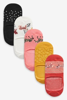 Safari Animal Invisible Socks Five Pack